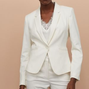 Zara Cream white fitted blazer